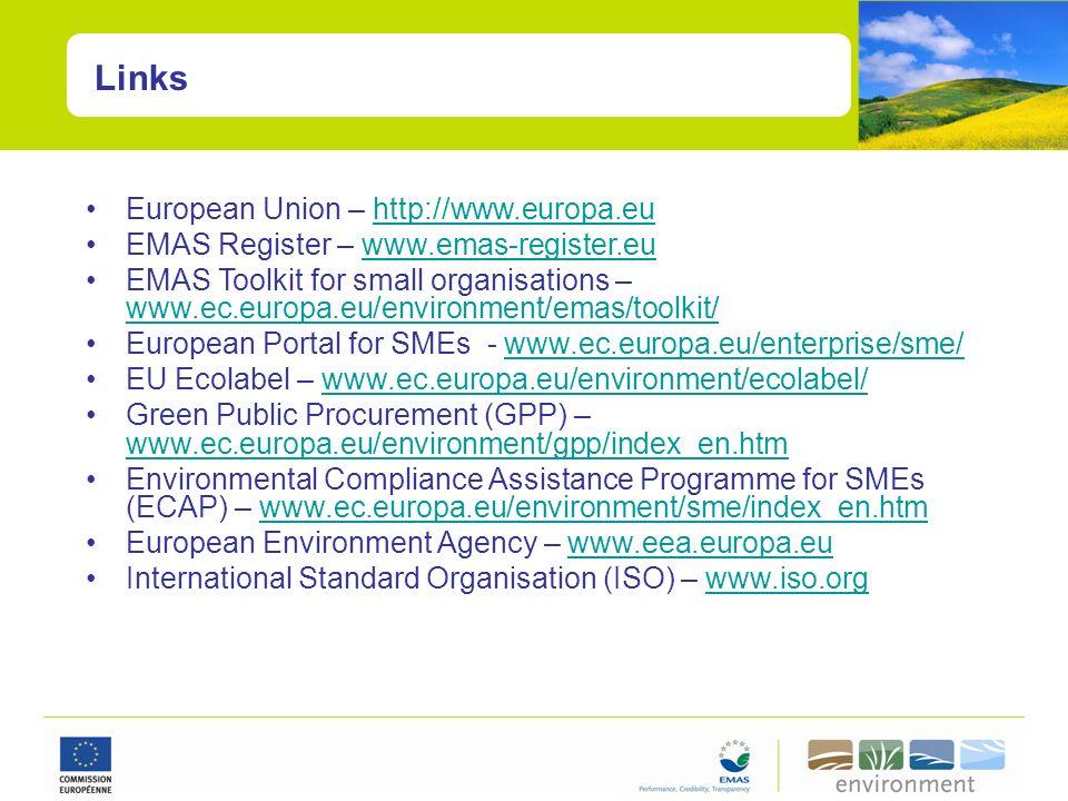 Links European Union – http://www.europa.eu
