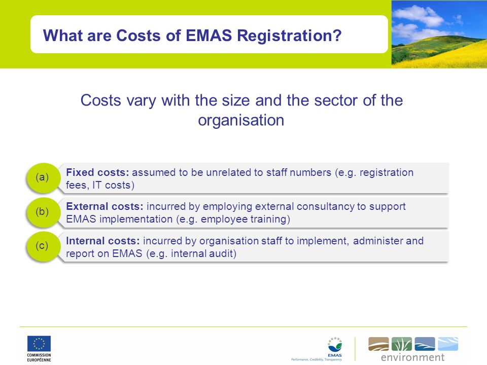 Costs vary with the size and the sector of the organisation