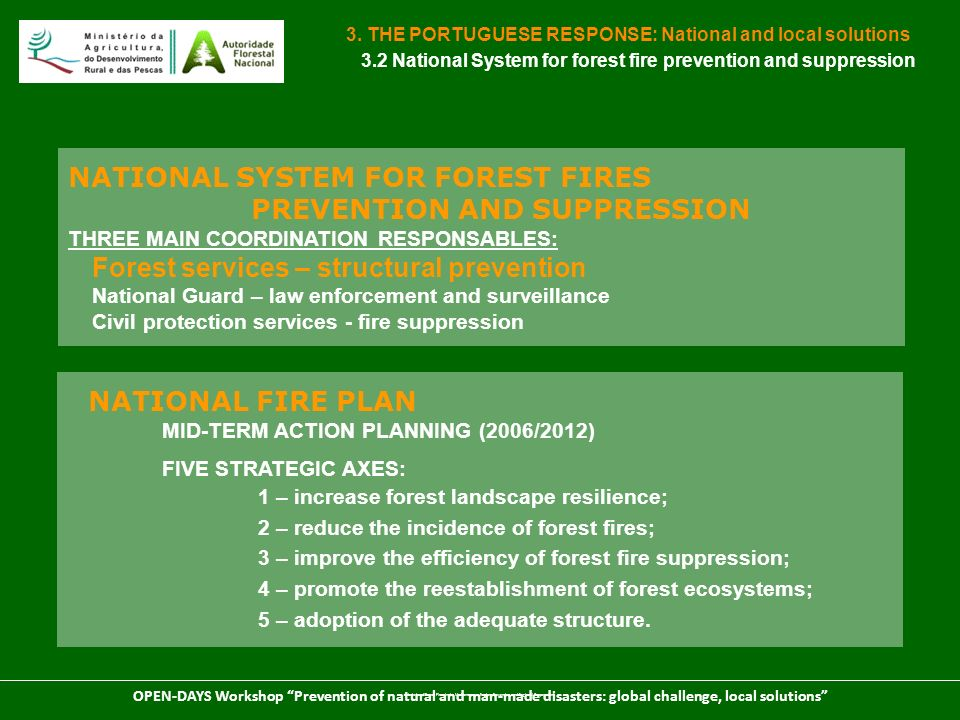 NATIONAL SYSTEM FOR FOREST FIRES PREVENTION AND SUPPRESSION