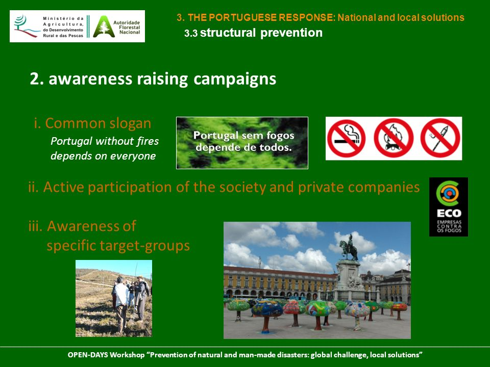 2. awareness raising campaigns