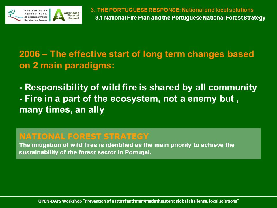 - Responsibility of wild fire is shared by all community