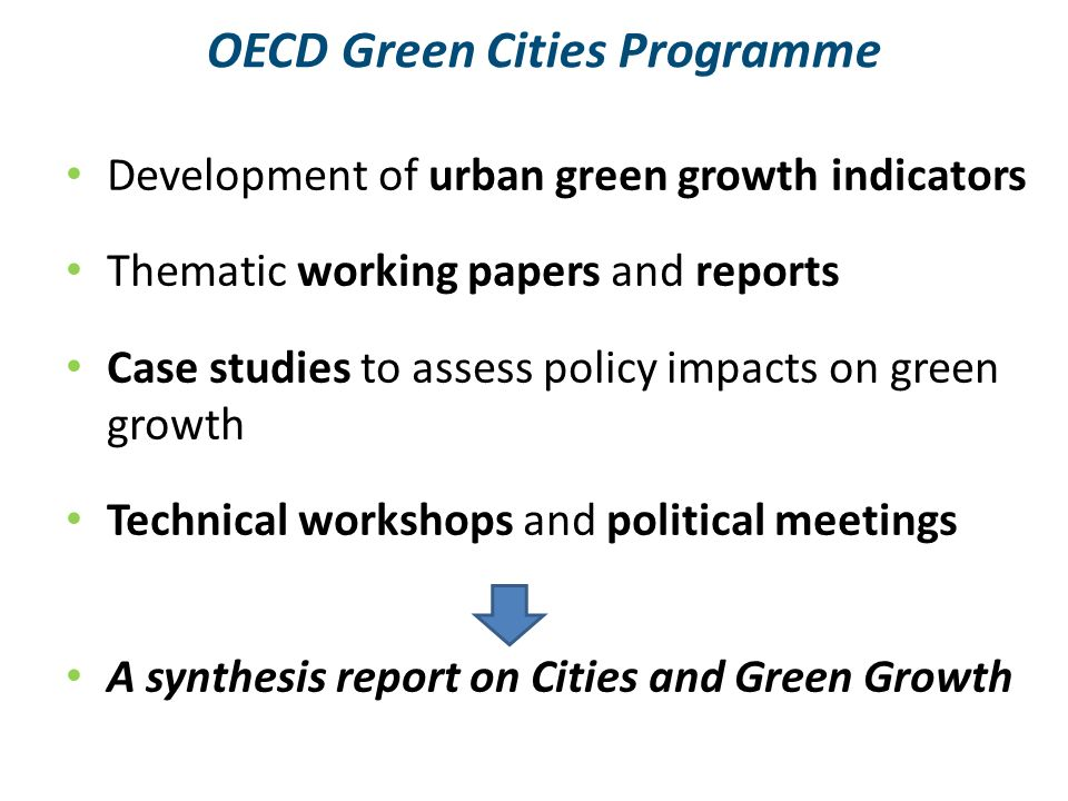 OECD Green Cities Programme