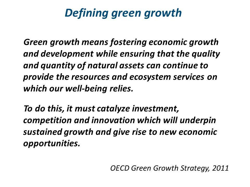 Defining green growth