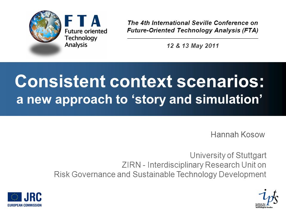 Consistent context scenarios: a new approach to 'story and simulation'