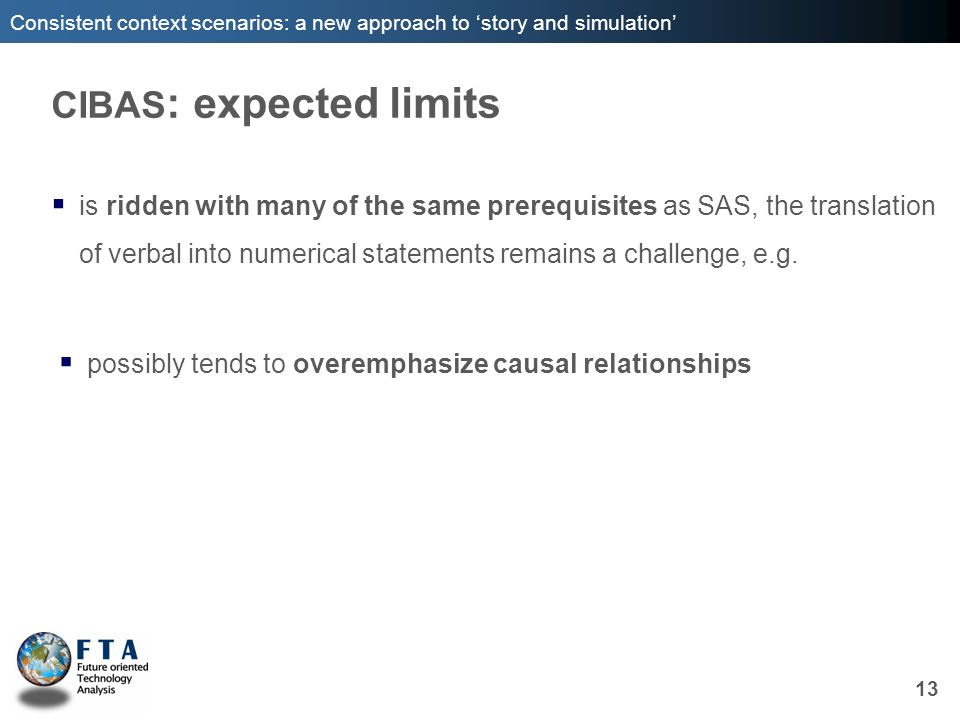 CIBAS: expected limits