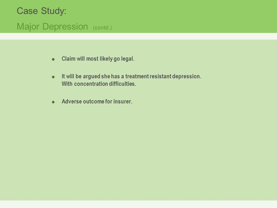 case study on depression and anxiety Prime is an accme accredited provider of continuing medical education for physicians, pharmacists, nurses and case managers.