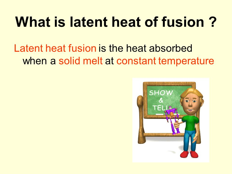 heat of fusion Heat of fusion definition is - heat required to melt a solid specifically : the amount required to melt unit mass of a substance at standard pressure.