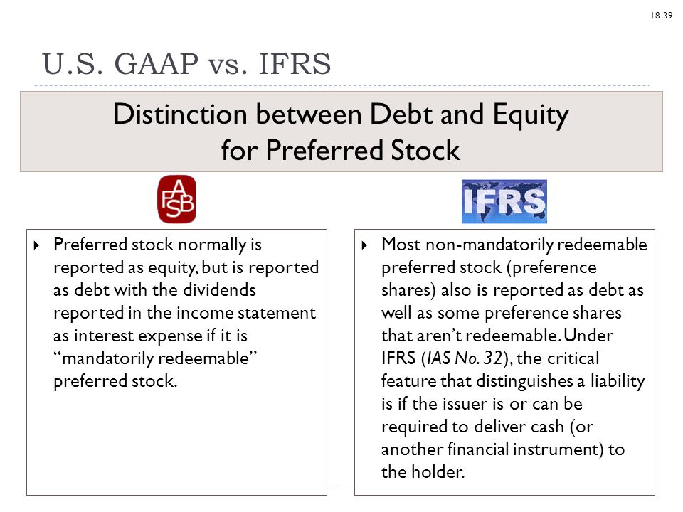 Stock options ifrs vs gaap