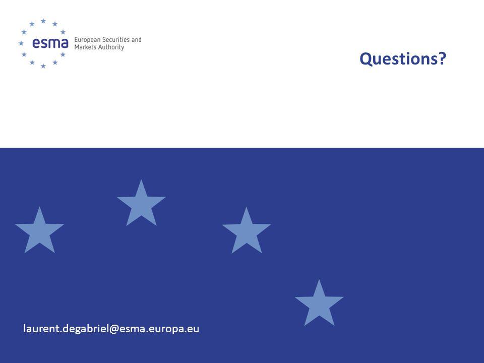 Questions laurent.degabriel@esma.europa.eu