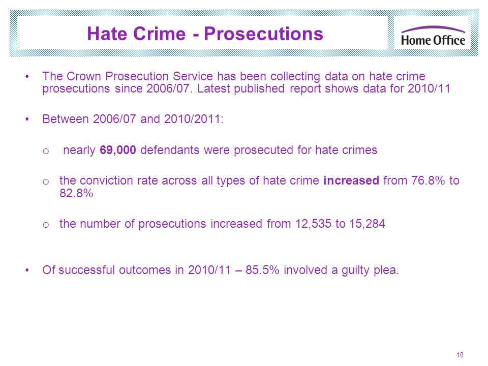 Hate Crime - Prosecutions