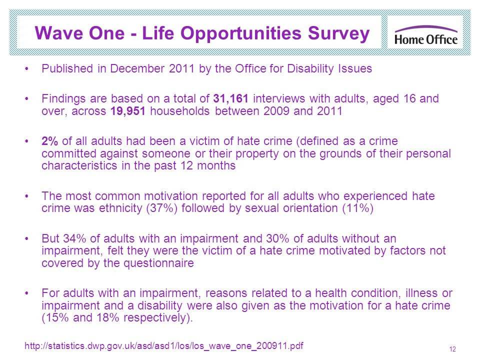 Wave One - Life Opportunities Survey