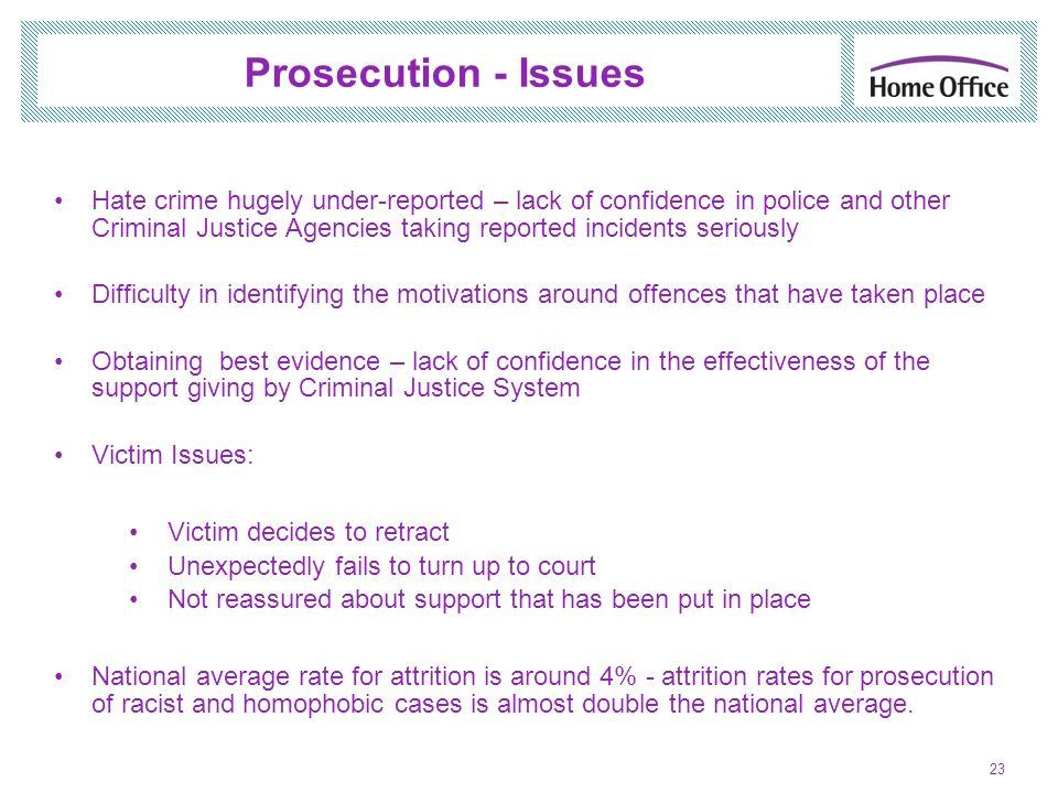 Prosecution - Issues
