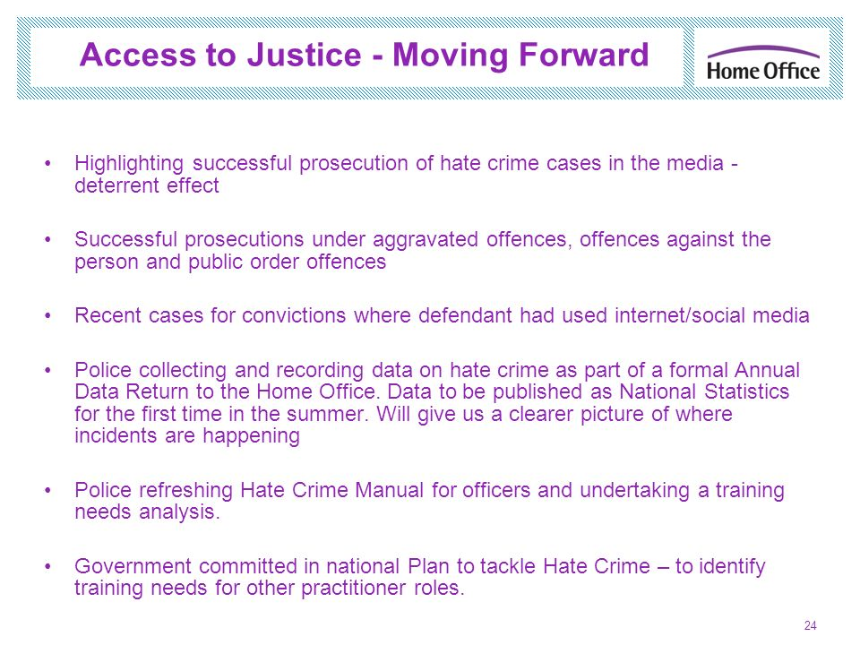 Access to Justice - Moving Forward