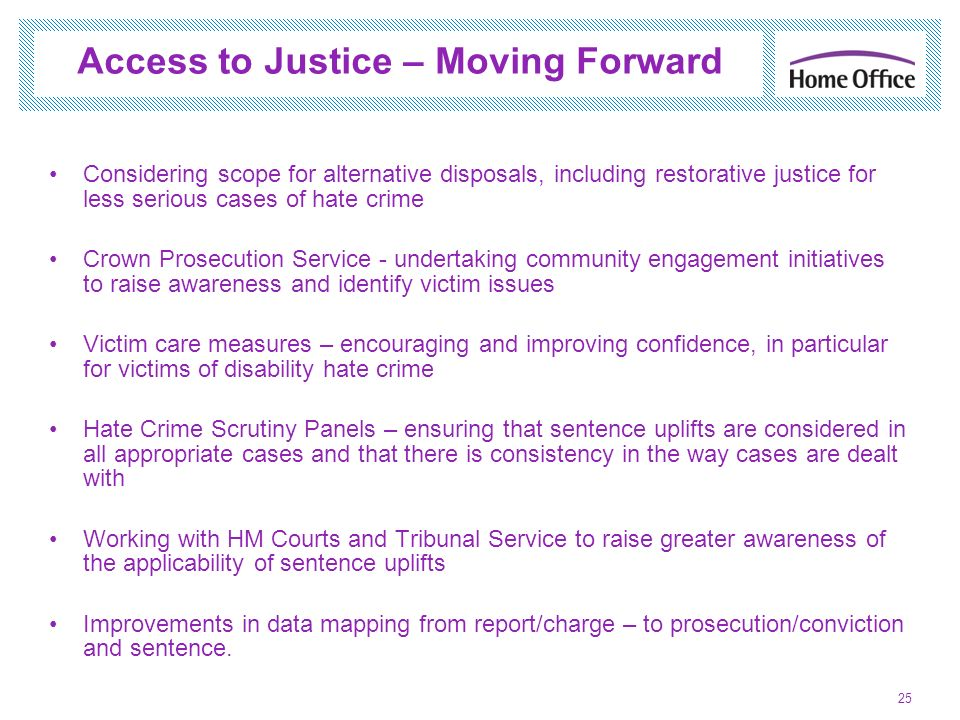 Access to Justice – Moving Forward