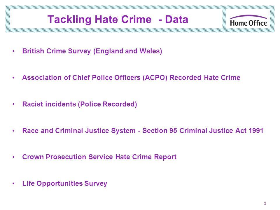 Tackling Hate Crime - Data