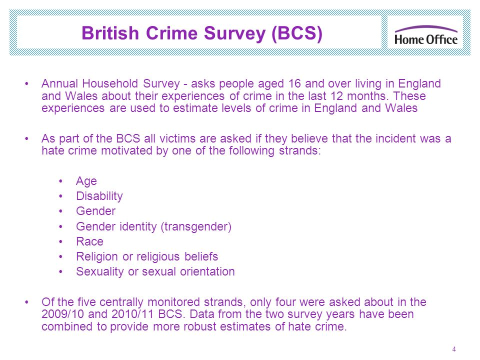 British Crime Survey (BCS)