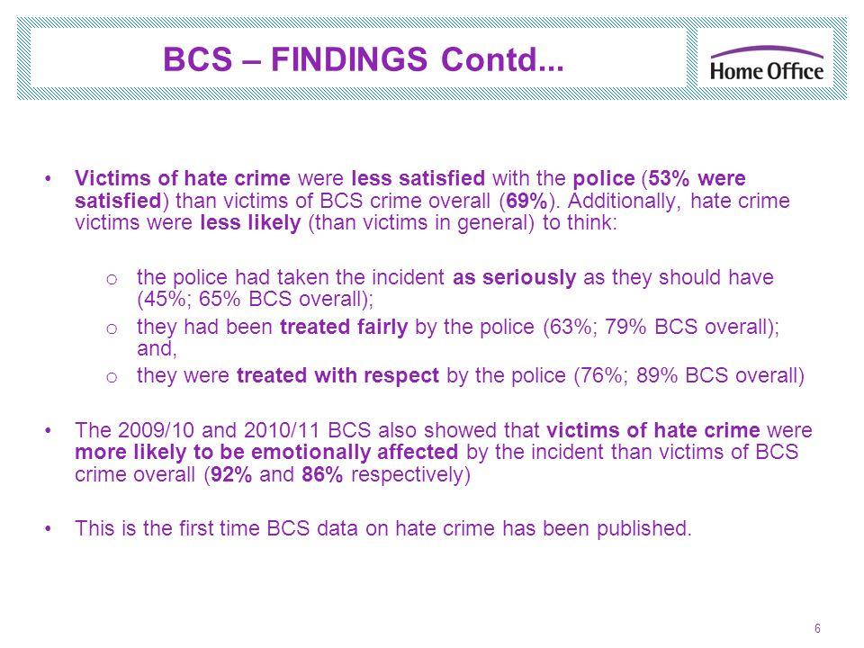 BCS – FINDINGS Contd...