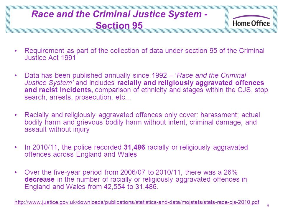Race and the Criminal Justice System - Section 95