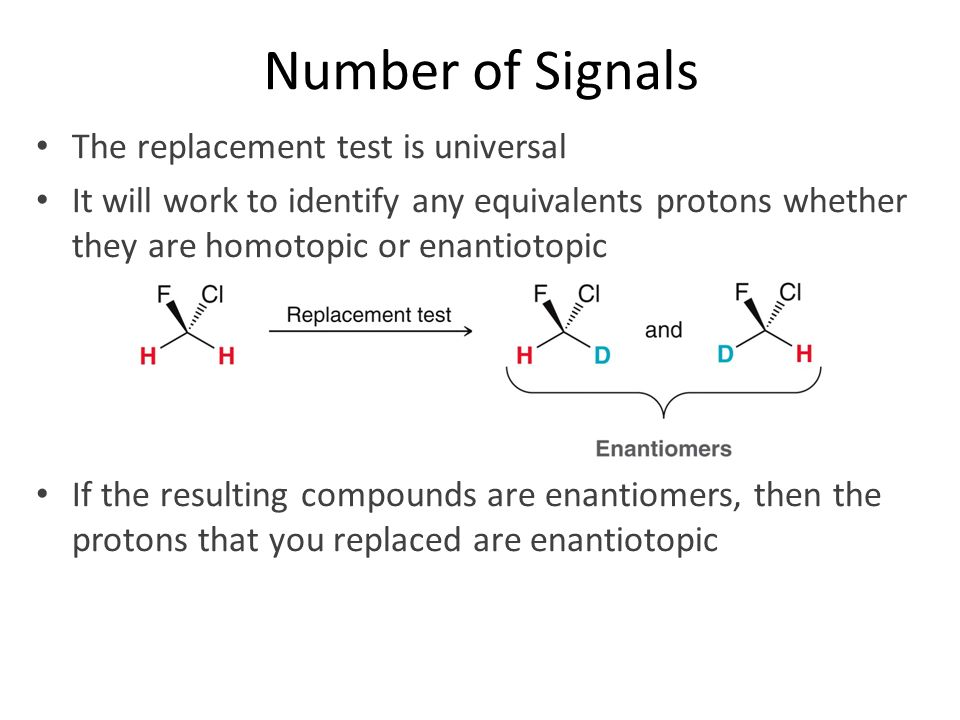 Number of Signals The replacement test is universal