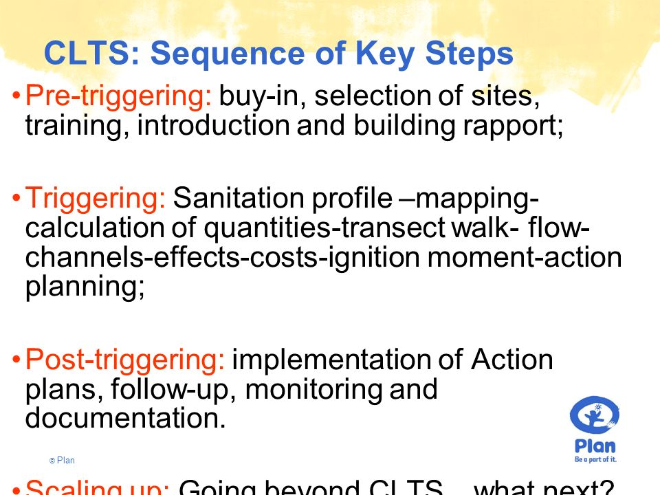 CLTS: Sequence of Key Steps