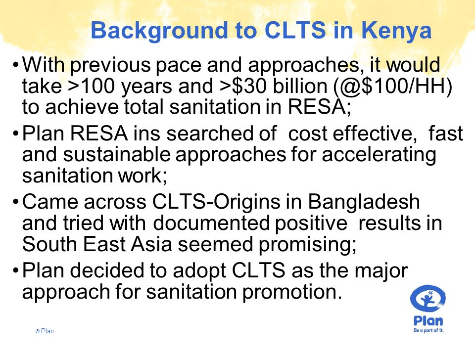 Background to CLTS in Kenya