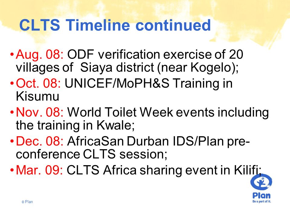 CLTS Timeline continued