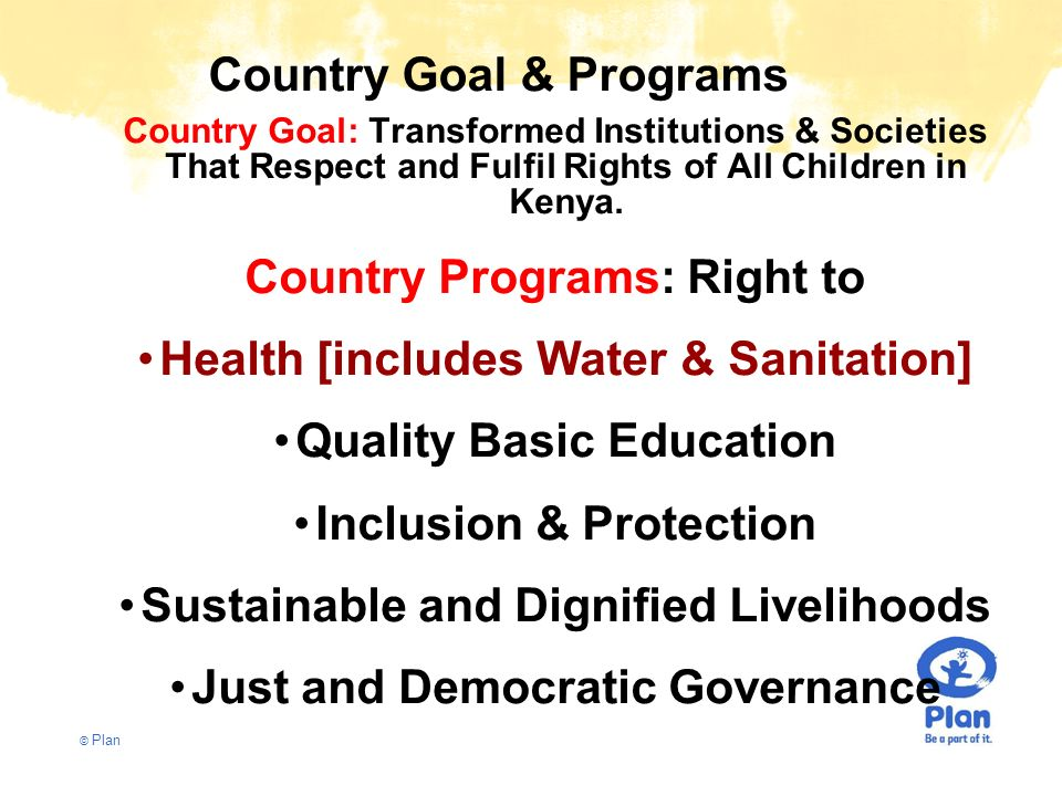 Country Goal & Programs