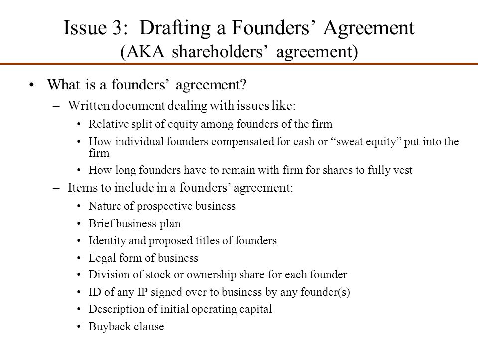 Chapter 8 preparing the proper ethical and legal for Sweat equity agreement template