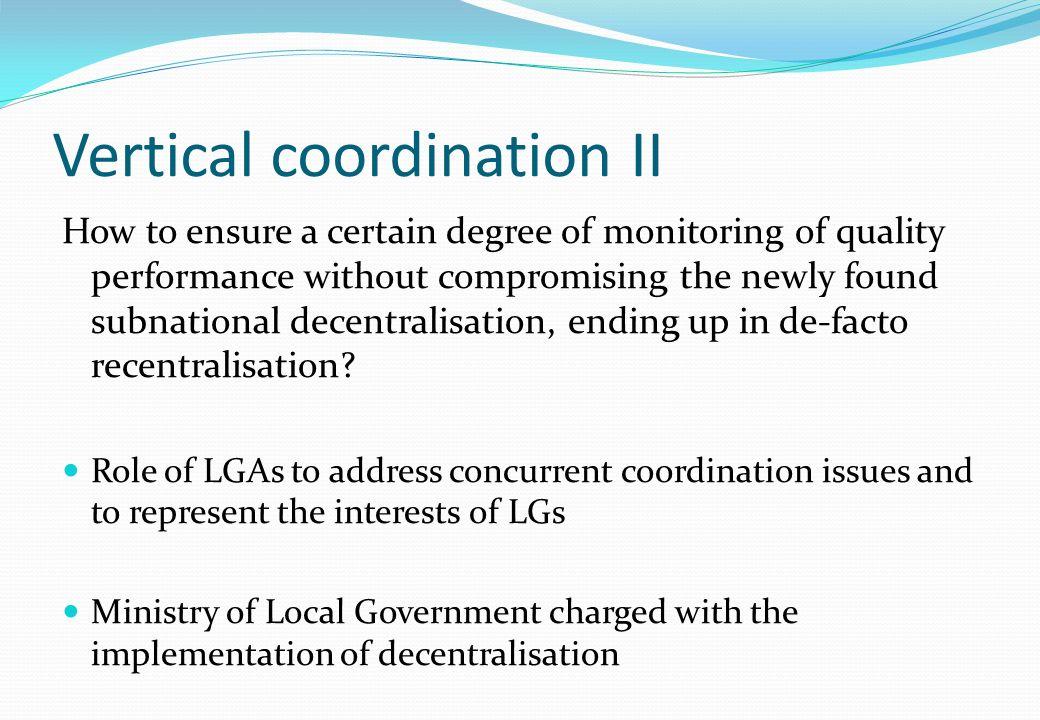 Vertical coordination II