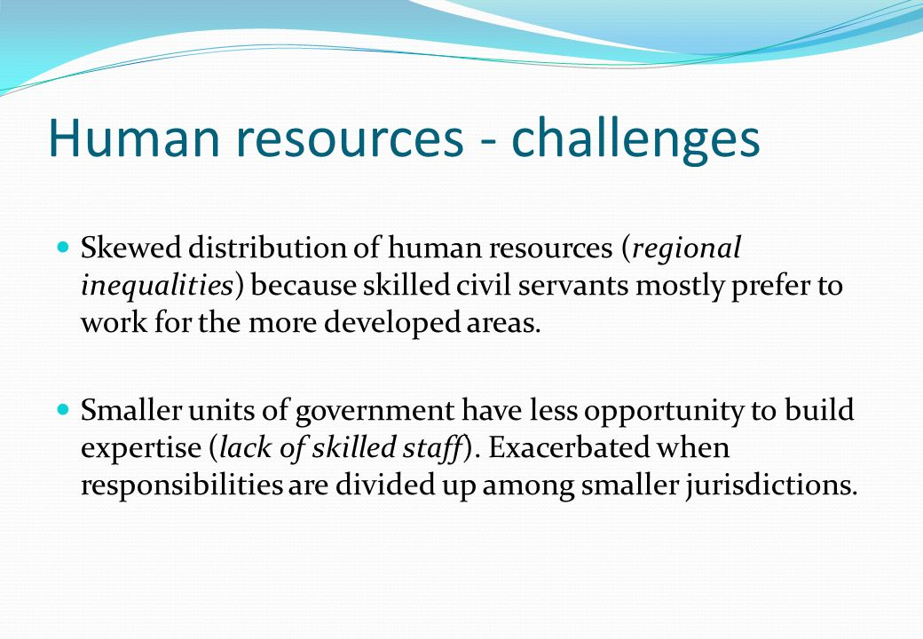 Human resources - challenges