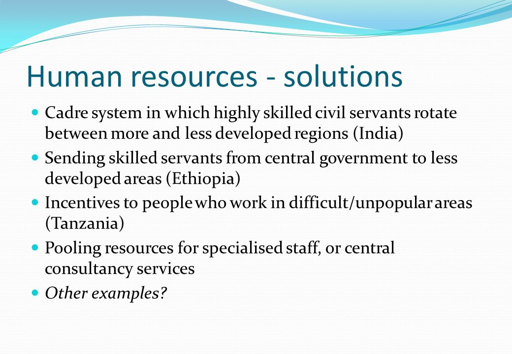 Human resources - solutions