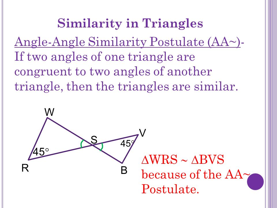 Similarity in Triangles