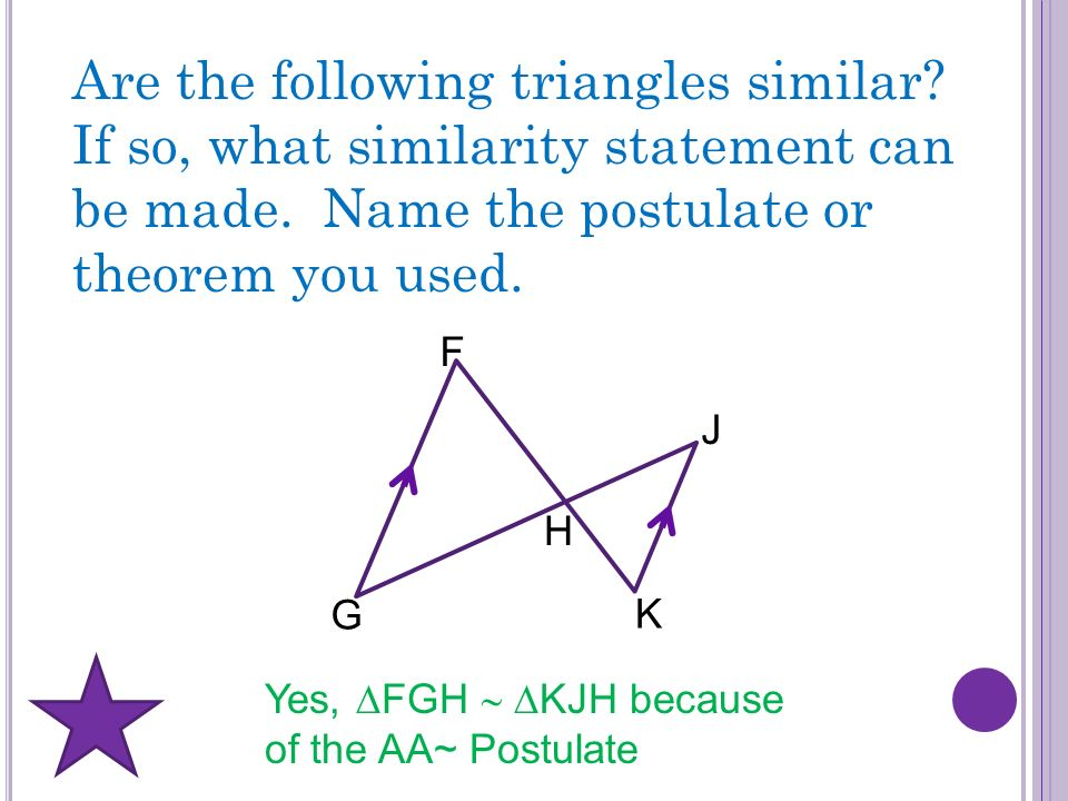 Are the following triangles similar