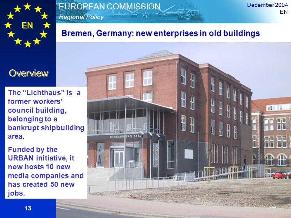 Bremen, Germany: new enterprises in old buildings