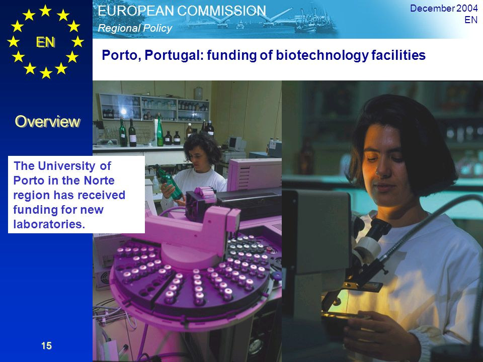 Porto, Portugal: funding of biotechnology facilities