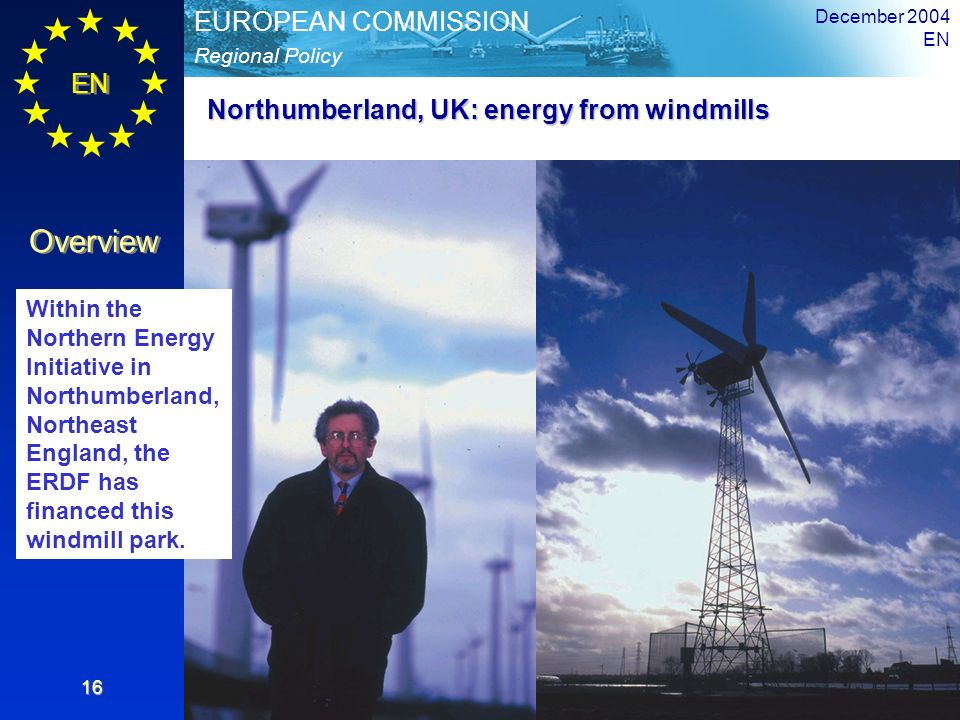 Northumberland, UK: energy from windmills