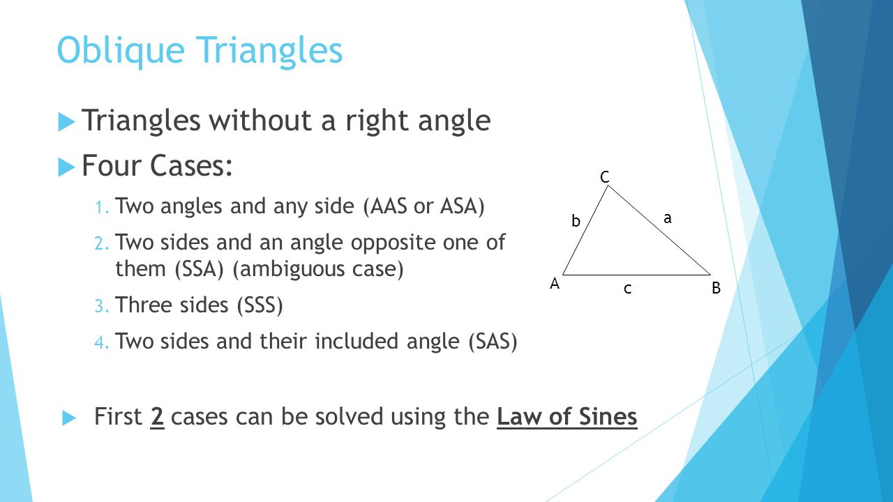 how to find opposite side of triangle without angle degree