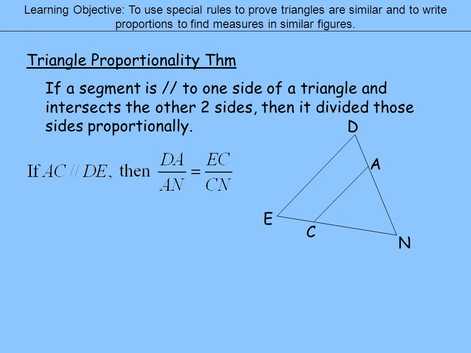 Triangle Proportionality Thm
