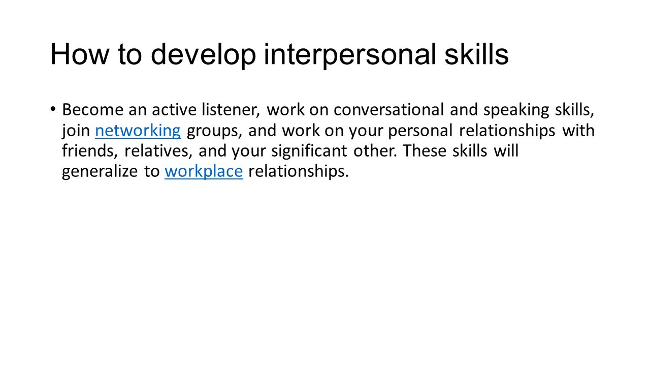 how to explain personal an interpersonal skill