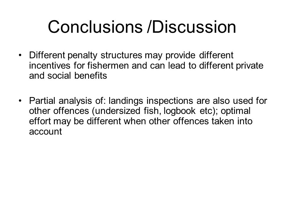 Conclusions /Discussion