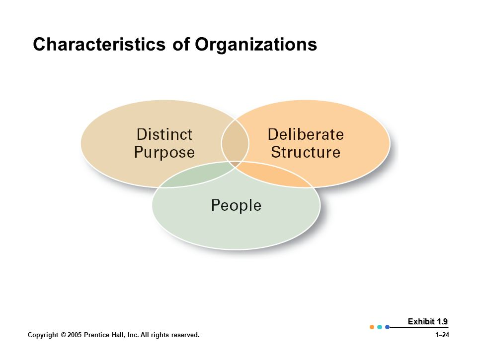 Characteristics of Organizations