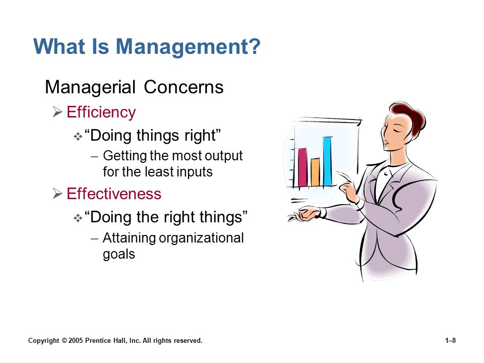 What Is Management Managerial Concerns Efficiency