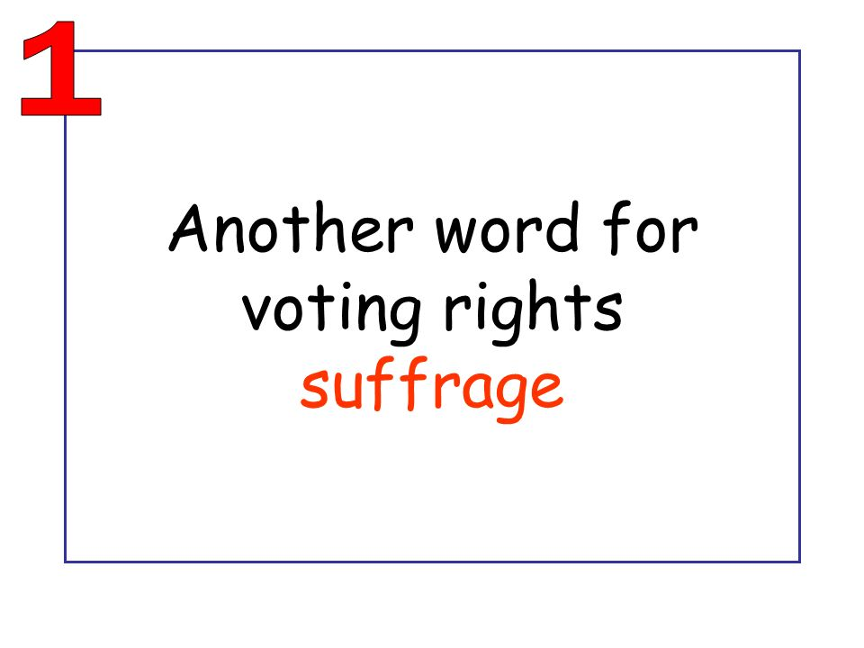 Another word for voting rights suffrage