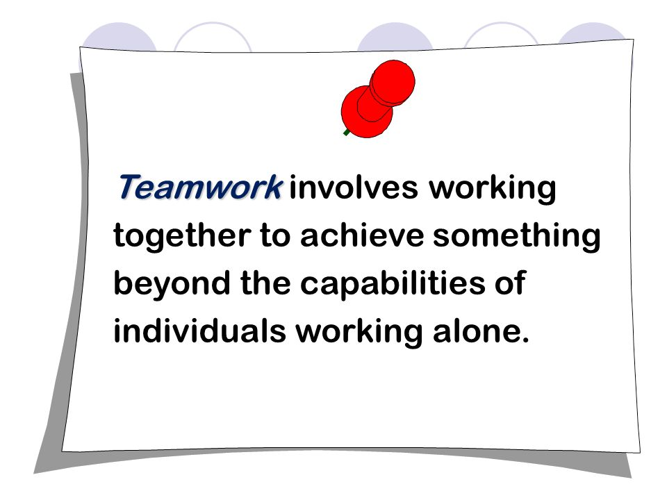 teamwork and working alone Teams and teamwork  what is better: working alone or working in a team for a college assignment/project update cancel ad by grammarly your writing, at its best.
