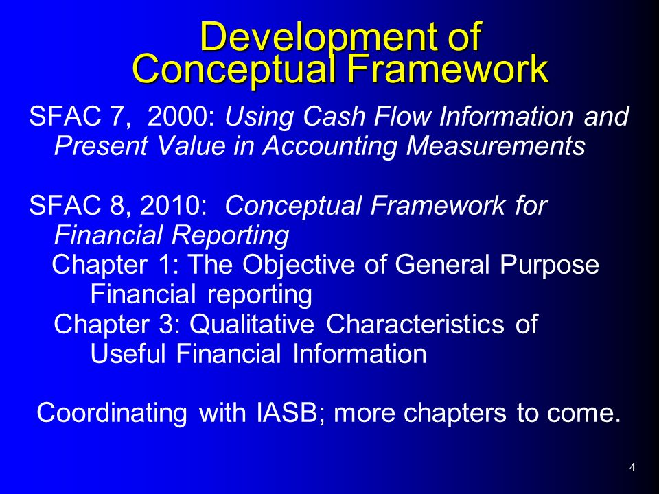 chapter 2 conceptual framework for financial reporting The chapter on the reporting entity will be reconsidered as part of the iasb's comprehensive project on the framework.