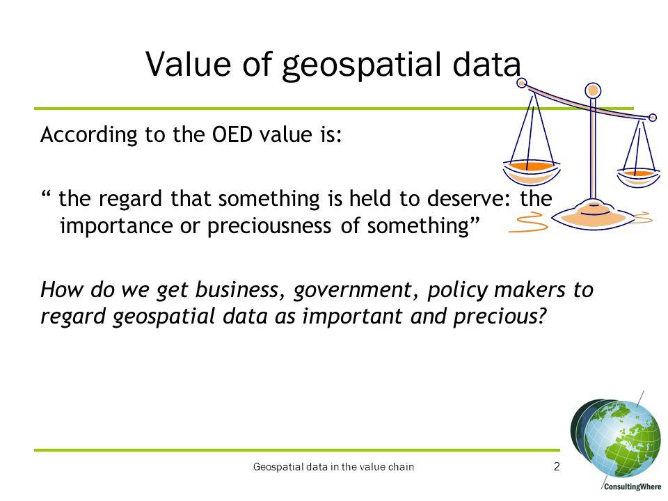 Value of geospatial data