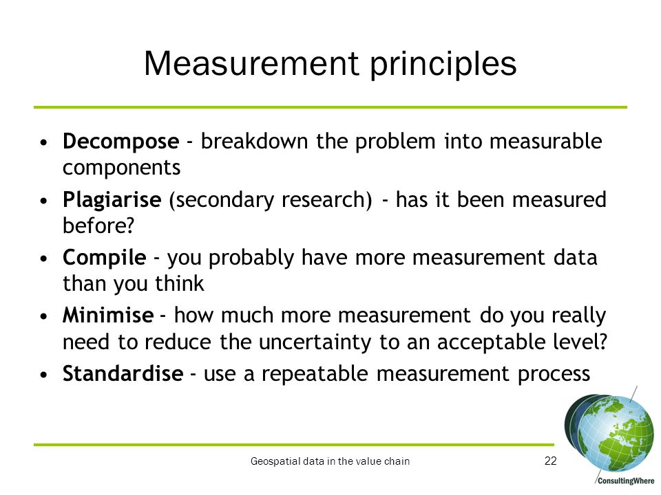 Measurement principles