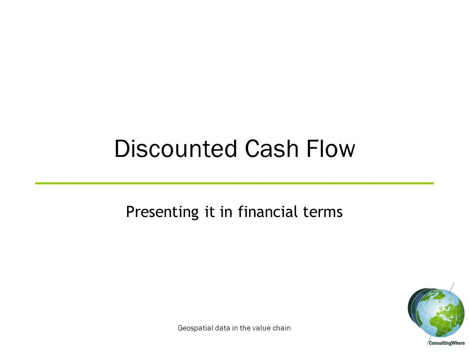 Presenting it in financial terms