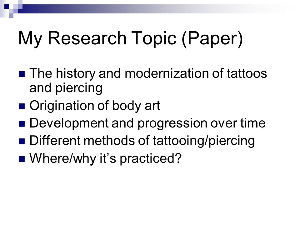 the art and history of tattoos and body piercing A tattoo is a form of body art that's created when ink is inserted, using a needle, into the dermis layer of the skin this changes the skin's pigment and can be used to create almost any image imaginable.