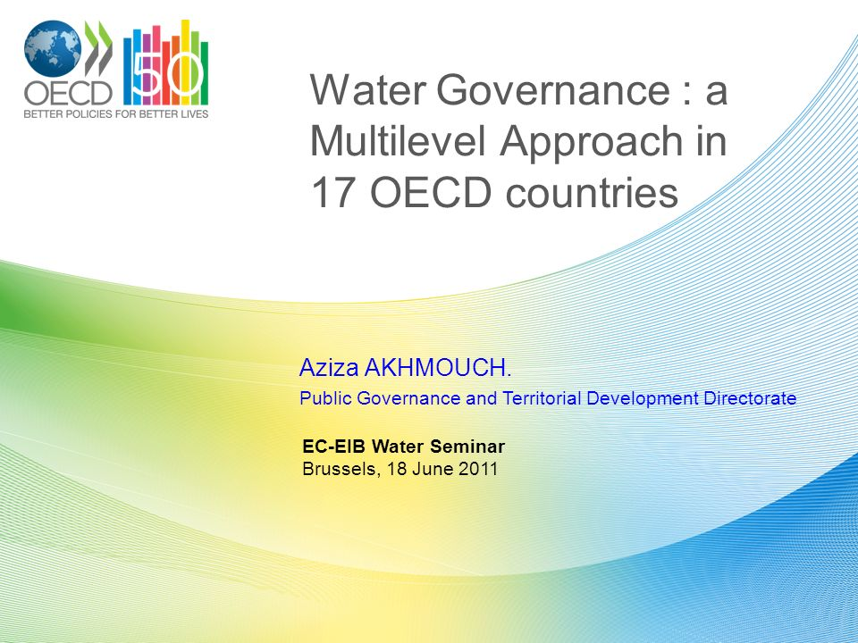 Water Governance : a Multilevel Approach in 17 OECD countries